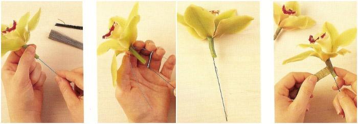 Изготовление цветов для аксессуара