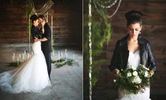 Свадебный образ молодоженов в стиле рок-н-ролл