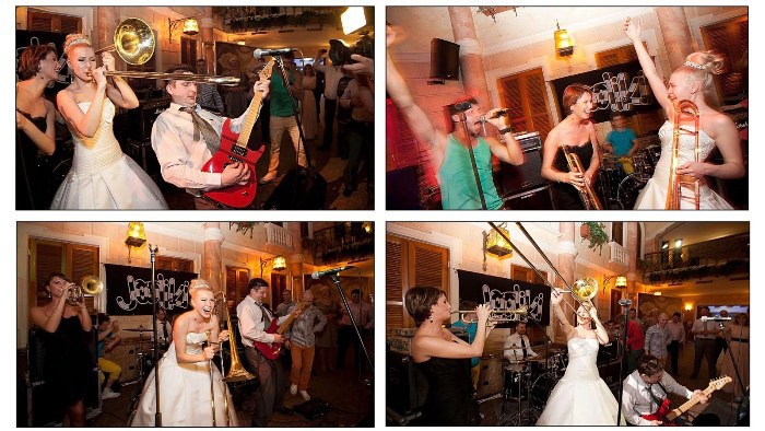 Музыкальная атмосфера рок-н-ролла на свадьбе