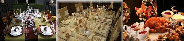 Варианты сервировки свадебного стола на Рождество