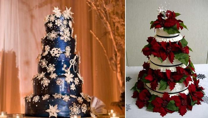 Свадебный торт на Рождество