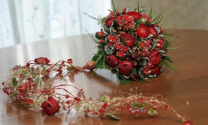 Зимние букеты цветов для невесты фото — img 2