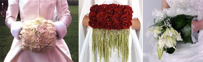 Свадебный букет-муфта популярен на Западе