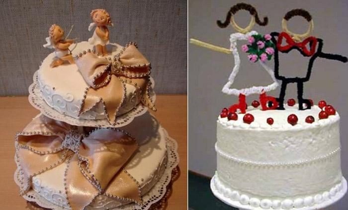 Необычные свадебные фигурки на торте