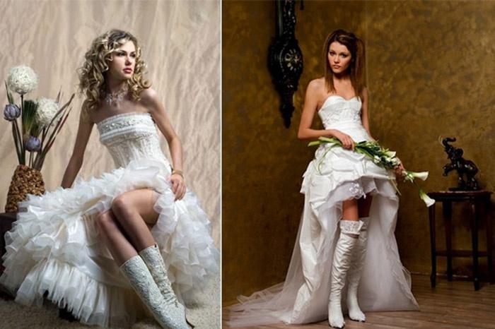 Идеальные сапоги для зимней свадьбы