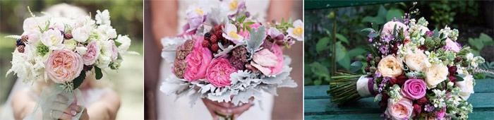 Розы Остина в сочетании с другими цветами