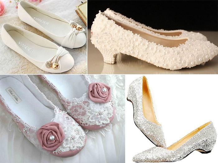 Обувь без каблука для стильной невесты