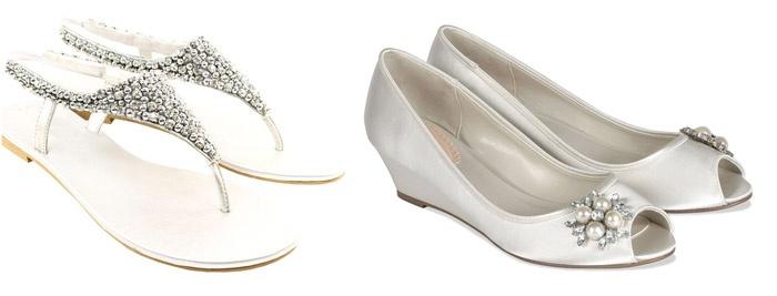 Преимущества свадебной обуви на низкой подошве