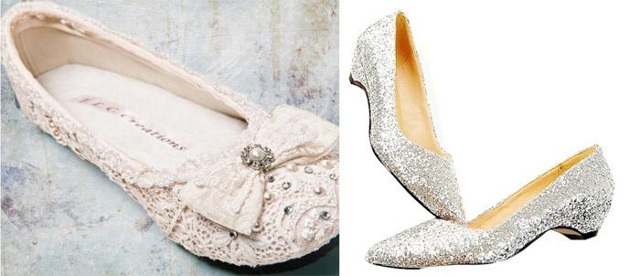 Обувь без каблука для свадьбы