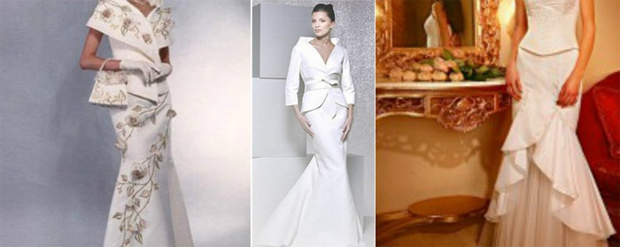 Фасон свадебного костюма с юбкой-годе