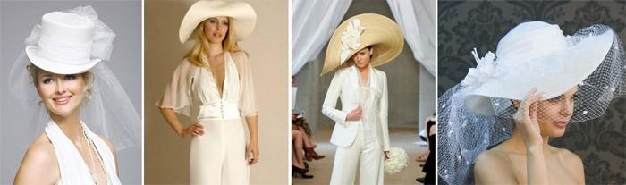 Шляпа – красивый аксессуар для свадебного костюма