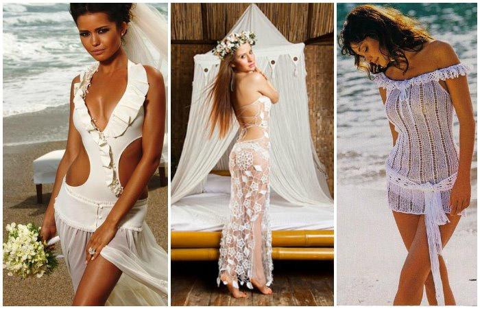 Вариант пляжного свадебного платья