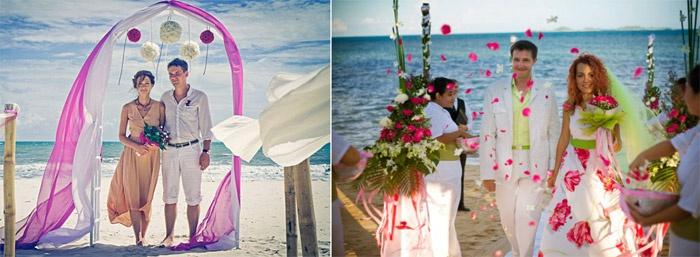 Свадебная пляжная церемония
