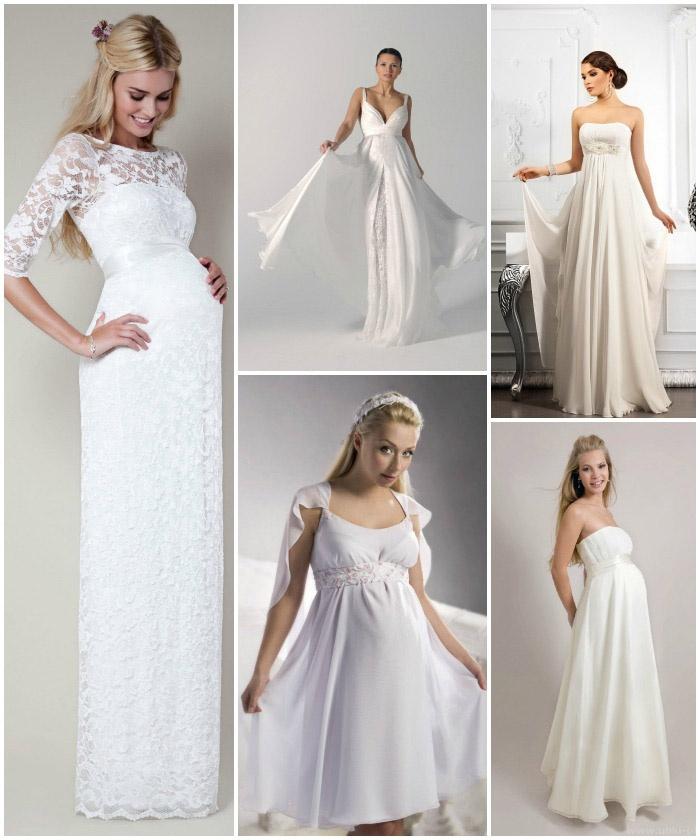 Свадебные фасоны для беременных невест