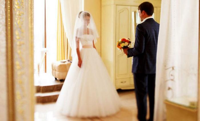 Долгожданная встреча жениха и невесты