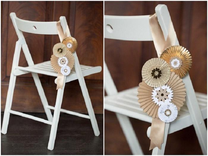 Бумажные веера – экономичный выбор для украшения свадьбы