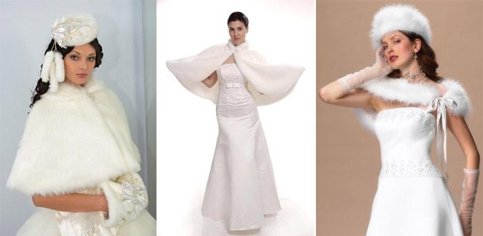 Белый мех сделает невесту Снежной королевой