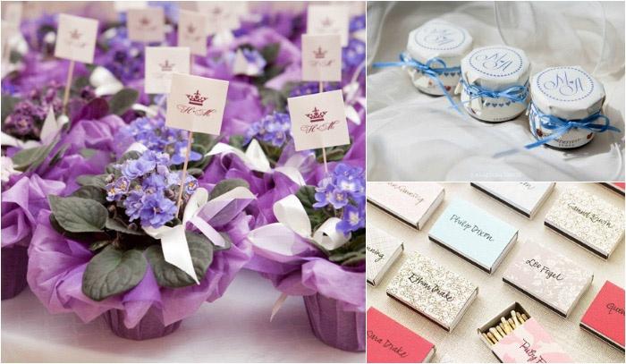 Красивые подарки гостям на свадьбу