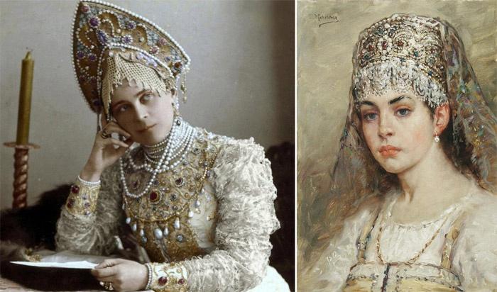 Невеста из давности в жемчужных украшениях