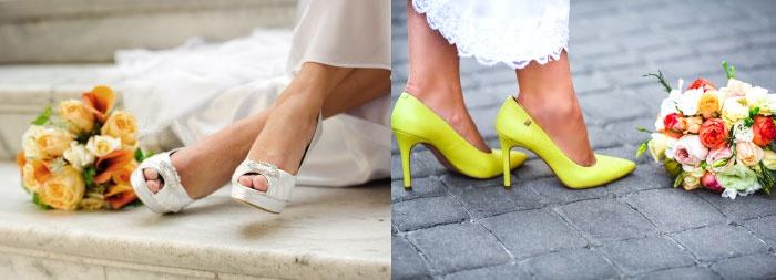 Новое цветовое решение для свадебной обуви