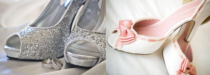 Варианты украшения туфель невесты