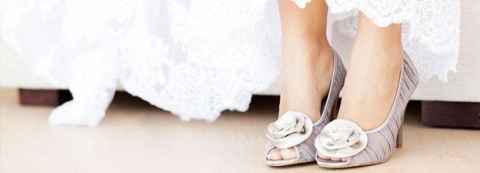 Отделка свадебной обуви должна быть гармоничной