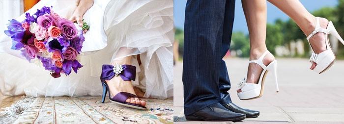 Выбирая фасон босоножек, учитывайте стиль платья