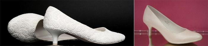 Туфли с маленьким каблуком-рюмочкой