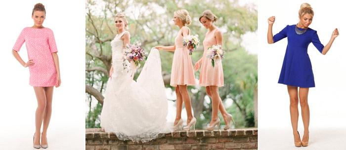 Варианты расцветок платья на свадьбу к подруге