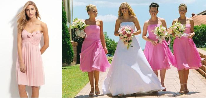 Платья средней длины на свадьбу к подруге