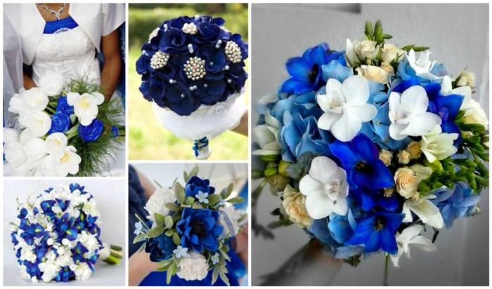 Преобладание синих цветов в букете