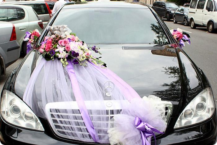 Цветы для свадебного авто