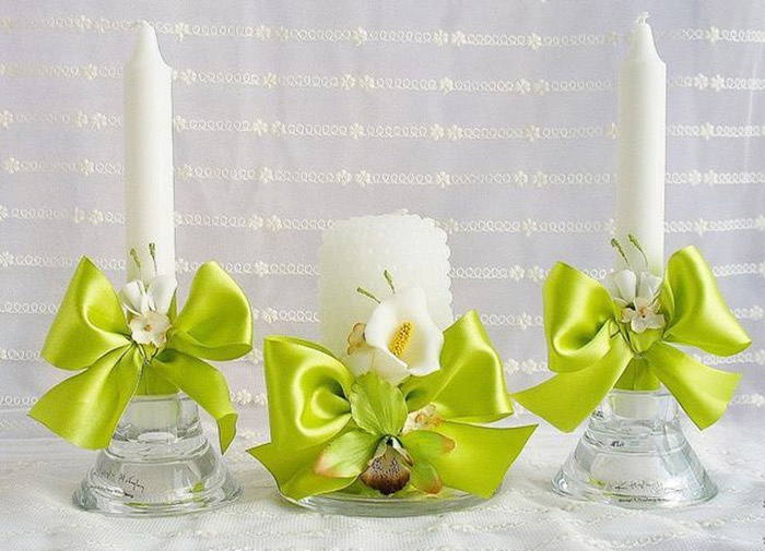 Материалы для оформления свечей