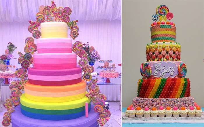Свадебный конфетный торт