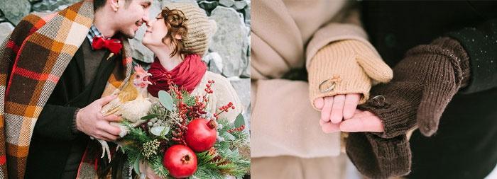 Как организовать зимнюю свадебную фотосессию