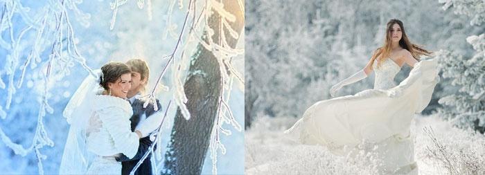 Волшебство зимнего леса: свадебные фото