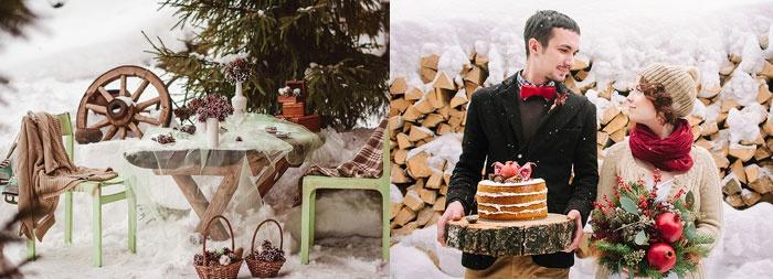 Как организовать зимний свадебный пикник