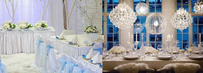 Тематический ресторан: свадьба в зимнем стиле