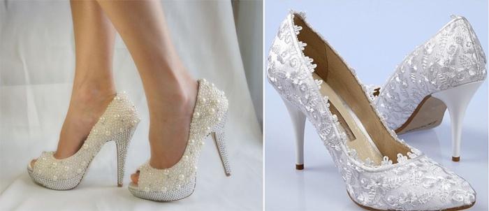 Туфли под короткое свадебное платье