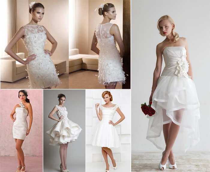 0b4401a997255b4 Фото коротких свадебных платьев: пышных, для беременных и полных, с ...