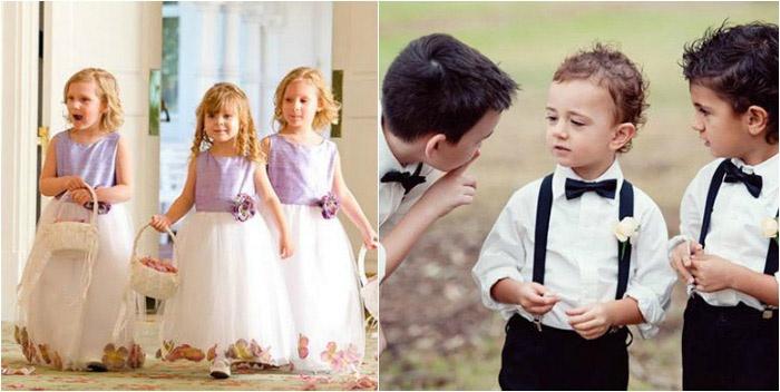 Ребенок во время свадьбы