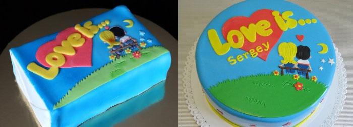 Синий торт Лав из на свадьбу