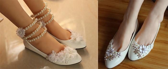 be00946b5 Свадебные туфли без каблука 2017 - какую модель выбрать, фото