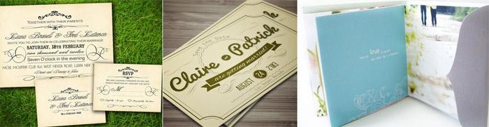 Варианты макетов свадебных приглашений