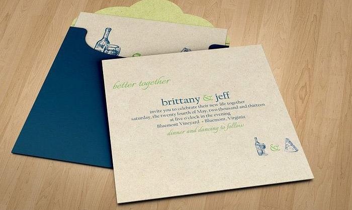 Заказ открыток с приглашением на свадьбу
