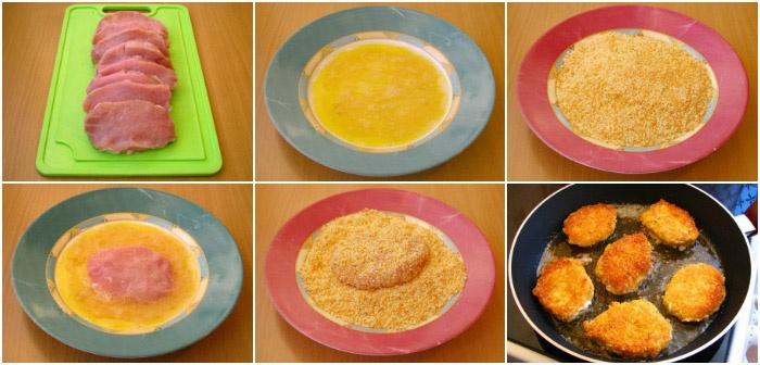 Свинина в сыре и сухарях – свадебное блюдо