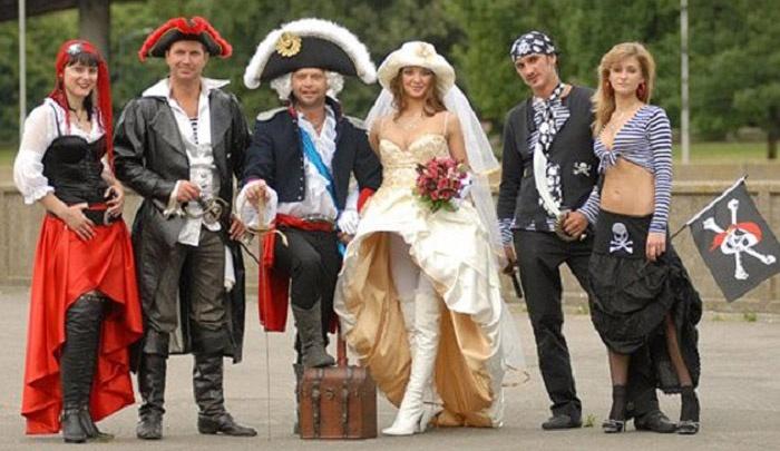 Тематическая пиратская свадьба