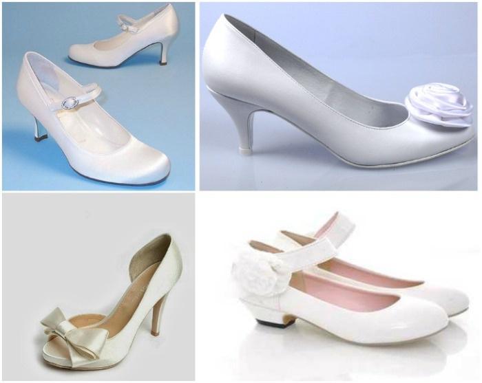 свадебные модели - низкий каблук