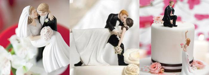 Фигурки новобрачных для свадебного торта
