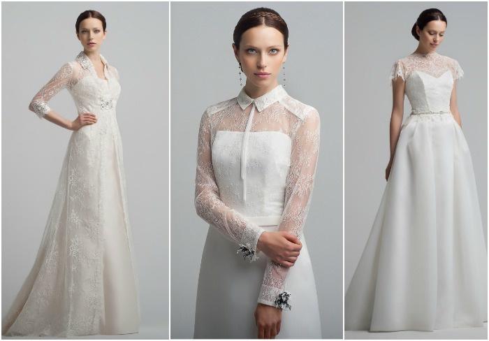 Платья для венчания с рукавами